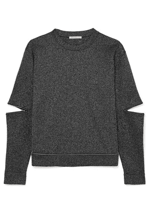 Christopher Kane - Zip-detailed Lurex Sweatshirt - Black