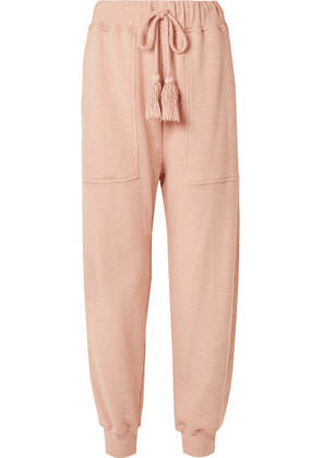 Ulla Johnson - Charley Tasseled Cotton-terry Track Pants - Antique rose