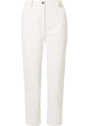 Stella McCartney - Hailey Faux Leather Straight-leg Pants - White