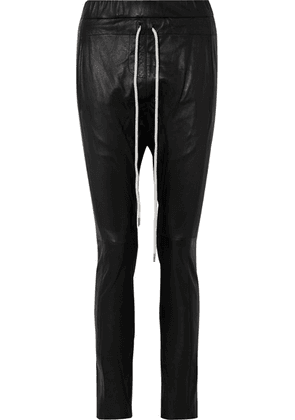 Bassike - Leather Track Pants - Black