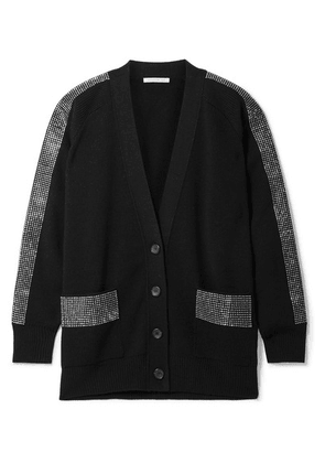 Christopher Kane - Crystal-embellished Wool Cardigan - Black