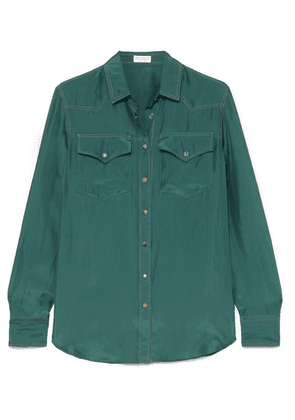 Brunello Cucinelli - Washed-silk Shirt - Green