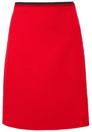 Gucci - Silk And Wool-blend Mini Skirt - Red