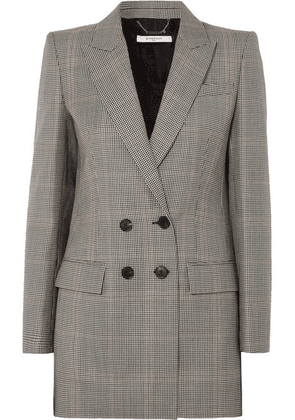 Givenchy - Double-breasted Houndstooth Wool-blend Blazer - Black