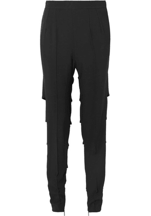 Christopher Kane - Cutout Stretch-crepe Straight-leg Pants - Black