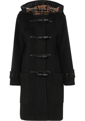 Burberry - Hooded Wool-blend Duffle Coat - Black