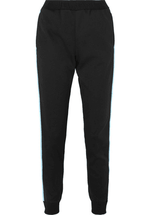 Prada - Striped Tech-jersey Track Pants - Black