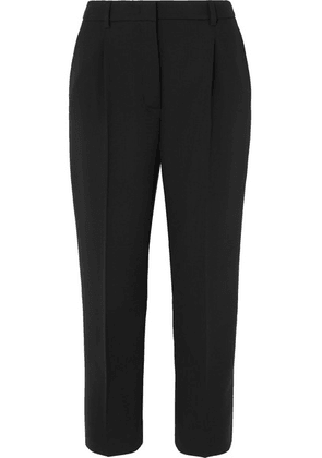 Prada - Cropped Stretch-wool Straight-leg Pants - Black
