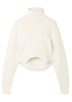 Golden Goose Deluxe Brand - Amber Cropped Knitted Turtleneck Sweater - Ivory