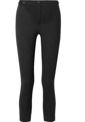 Ann Demeulemeester - Cropped Wool-blend Slim-leg Pants - Black