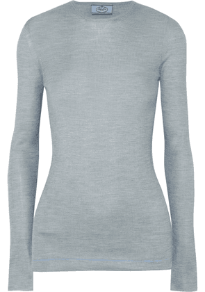 Prada - Ribbed Silk Sweater - Sky blue
