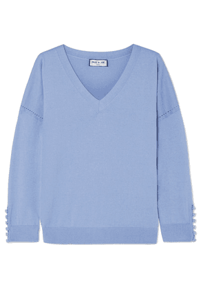 Paul & Joe - Silk And Cotton-blend Sweater - Blue