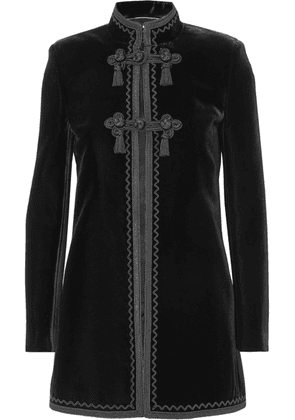 Saint Laurent - Embroidered Velvet Jacket - Black