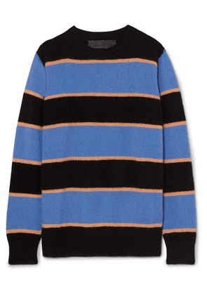 The Elder Statesman - Super Stripe Cashmere Sweater - Blue