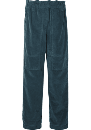Brunello Cucinelli - Cotton-velvet Pants - Teal