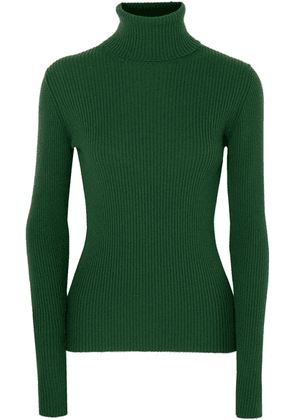 Hillier Bartley - Ribbed Cashmere Turtleneck Sweater - Forest green