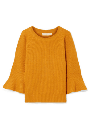 MICHAEL Michael Kors - Ribbed Wool And Alpaca-blend Sweater - Saffron