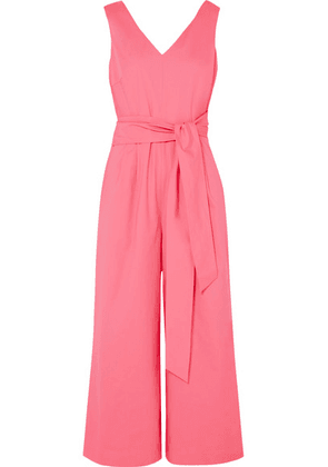J.Crew - Dark Matter Belted Cotton-blend Poplin Jumpsuit - Pink