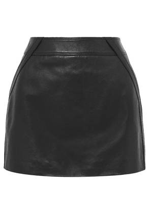 SAINT LAURENT - Leather Mini Skirt - Black
