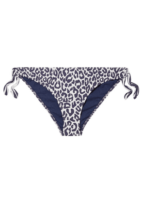 Stella McCartney - Leopard-print Bikini Briefs - Navy