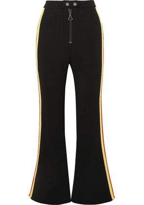 Ellery - Riviera Cropped Striped Cady Flared Pants - Black
