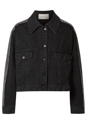 Christopher Kane - Crystal-embellished Denim Jacket - Black