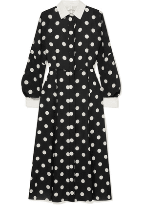 Andrew Gn - Polka-dot Silk-georgette Dress - Black