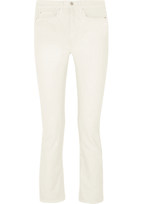 Brock Collection - Wright Cropped High-rise Straight-leg Jeans - White