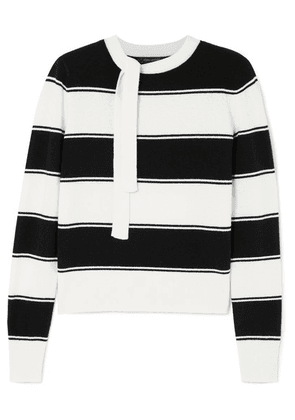 Marc Jacobs - Tie-detailed Striped Wool Sweater - Ivory