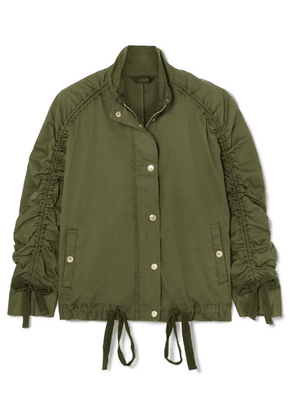 J.Crew - Ruched Stretch-cotton Jacket - Army green