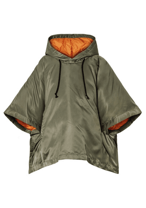 Comme des Garçons Comme des Garçons - Oversized Cropped Hooded Shell Down Jacket - Army green