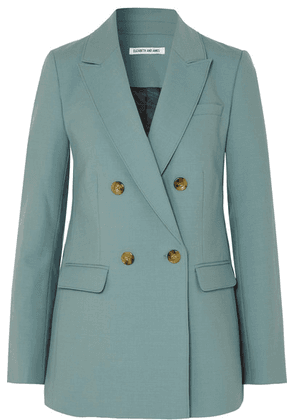 Elizabeth and James - Sterling Double-breasted Woven Blazer - Sky blue