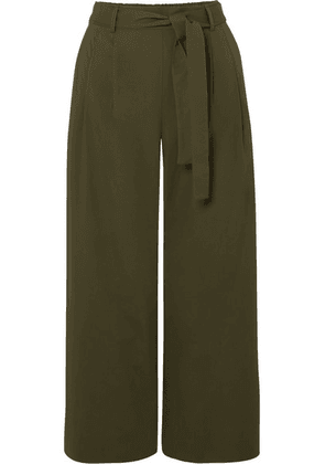 J.Crew - Stretch-cotton Poplin Cropped Pants - Green