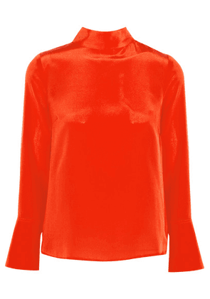 J.Crew - Howl Draped Silk Crepe De Chine Top - Orange