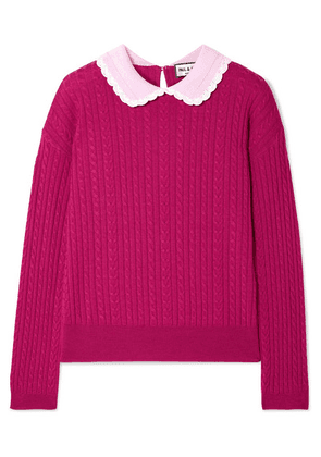 Paul & Joe - Cable-knit Wool Sweater - Plum