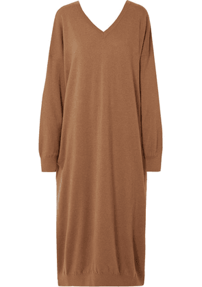 Stella McCartney - Oversized Wool And Alpaca-blend Dress - Light brown