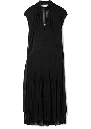 By Malene Birger - Olindah Plissé-chiffon Midi Dress - Black