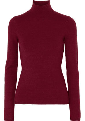 Victoria Beckham - Knitted Turtleneck Sweater - Burgundy