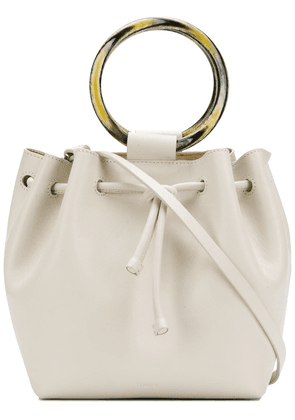 Theory wax cord hoop shoulder bag - White