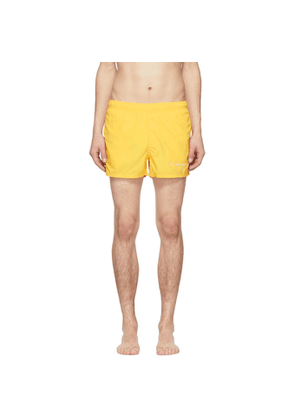 Givenchy Yellow Logo Swim Shorts