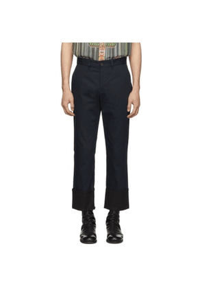 Loewe Navy Turn Up Chino Trousers