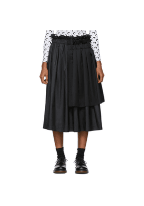 Noir Kei Ninomiya Black Layered Mix Skirt