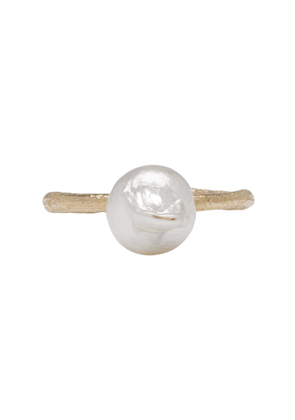 Pearls Before Swine Gold Akoya Baroque Pearl Ring