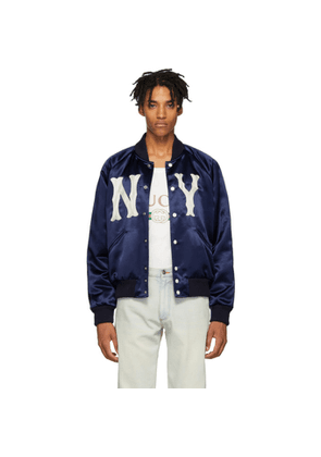 ef1ef34ab61 Gucci Black New York Yankees Edition Leather Bomber | MILANSTYLE.COM