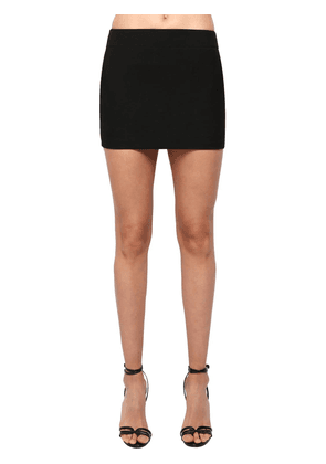 Wool Gabardine Mini Skirt