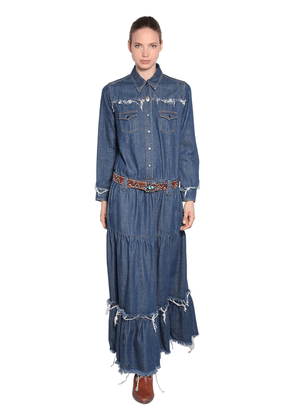 Cotton Denim Long Dress