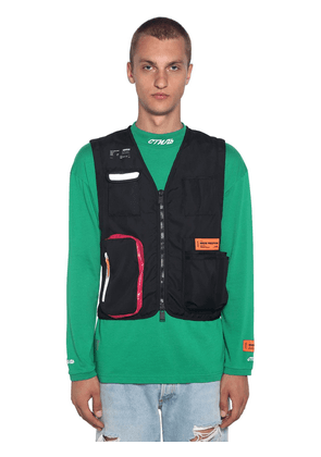 Zip-up Nylon Tool Vest