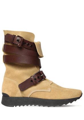 30mm Lace-up Suede Boots