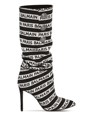 95mm Jane Logo Slouchy Fabric Boots