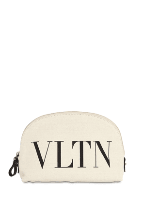 Vltn Canvas Cosmetic Bag